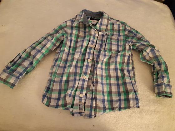 OshKosh Plaid Dress Shirt Green