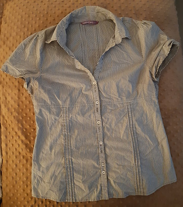 Smart Set Grey Striped (Size L)