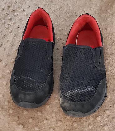 Black & Red Slip Ons