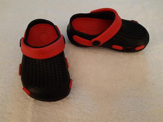 Black & Red like Crocs