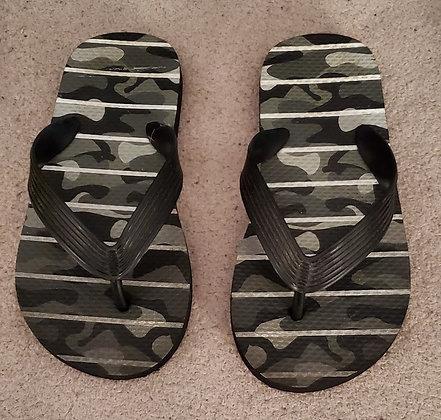 Camo Grey Flip Flops