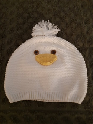 Duck White Knitted