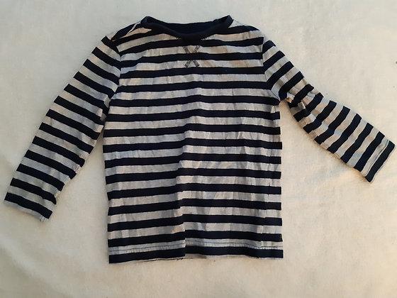 GAP Striped Blue & Grey