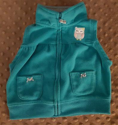 Carter's Owl Vest Teal