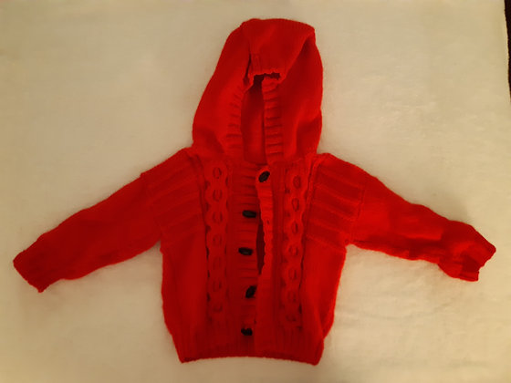 Hand Knitted Red