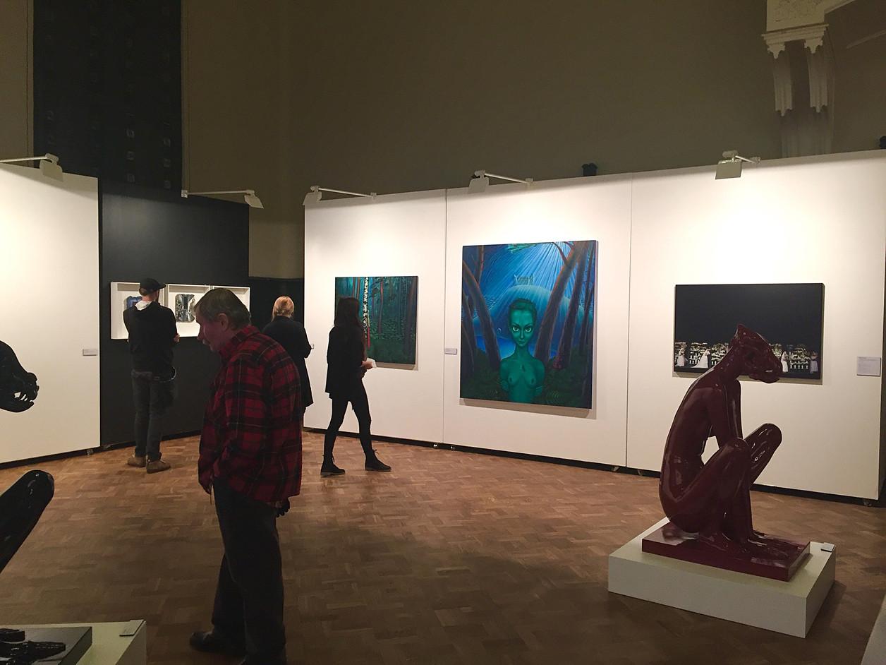 """""""Mākslas Akadēmijas Balva 2016"""", LMA izstāžu zāle, Rīga, Latvija. """"Art Academy Award 2016"""", exhibition hall of the Art Academy of Latvia, Riga, Latvia. 2016."""