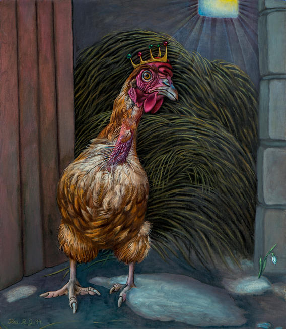 Mēs - vistas.  We - The Hens.
