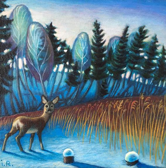 Ziema Līgatnē. Winter in Līgatne.