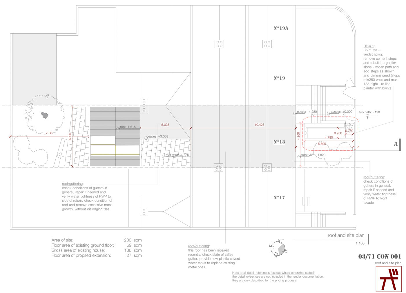 18-roof and site plan