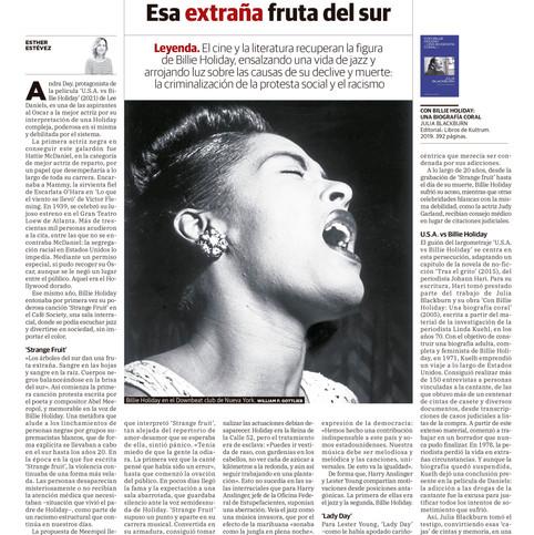 Billie Holiday, Esa extraña fruta del sur