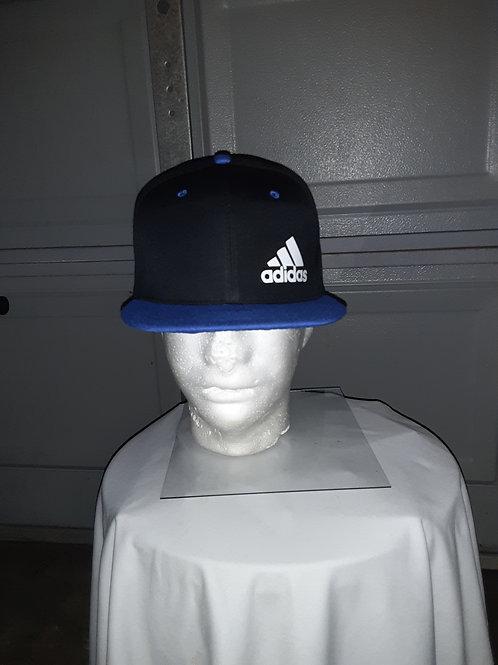 Adidas blue flat brimmed hat