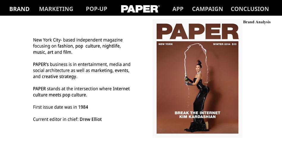Paper Magazine Presentation Final Emilie