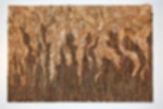 2012 wood, bark 4' x 6'