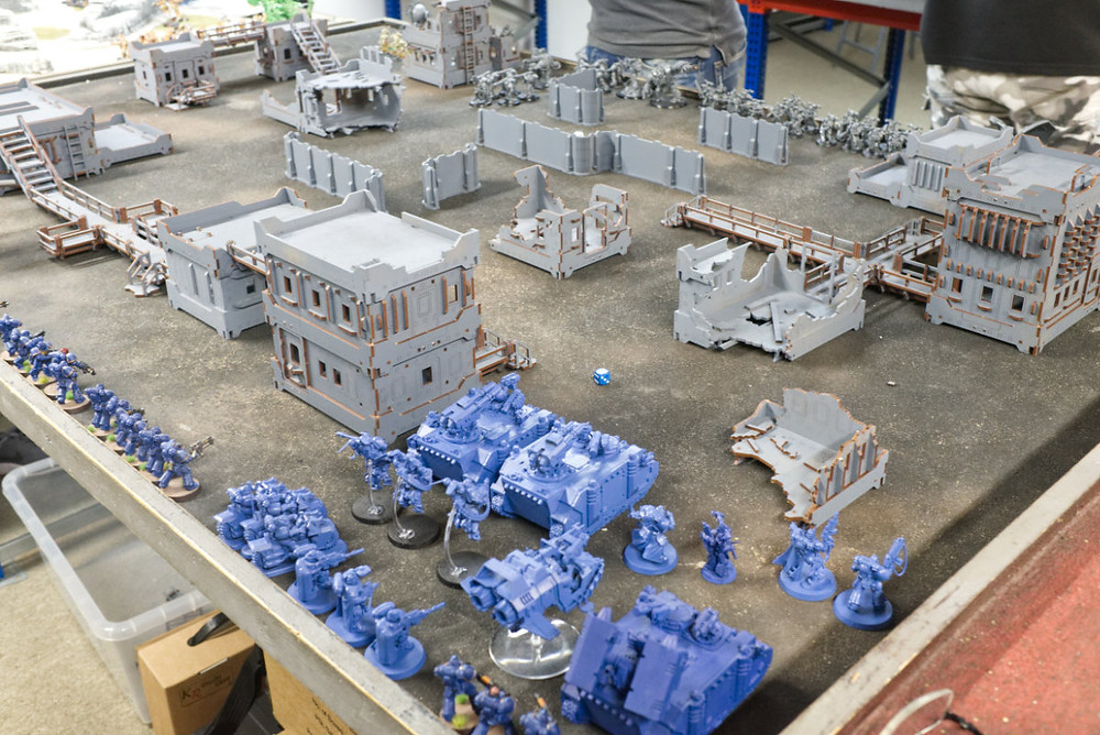 The armies line up before deployment.