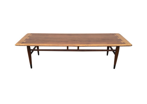 Mid Century Modern Coffee Table By Lane In Walnut Color Brown Dimensions L 48 3 4 W 18 1 2 H 14 1 2 Used An Item That Has Been Previously Used