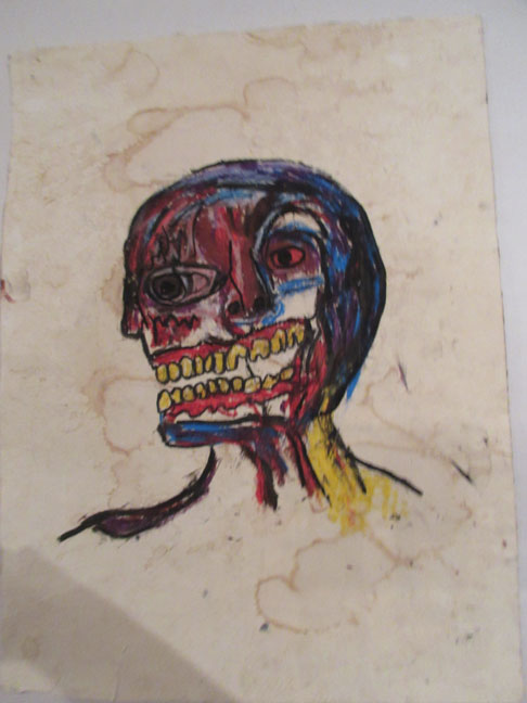 ALFREDO-MARTINEZ-THE-REAL-FAKE-D-BASQUIAT-WATERCOLOR