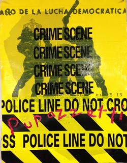 """""""Crime Scene"""" protest"""