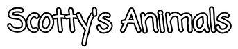 Scotty's Animals logo coming soon font.j