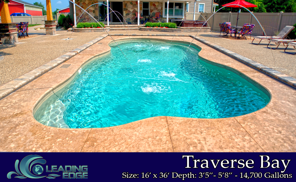 Fiberglass Swimming Pools Traverse Bay Model