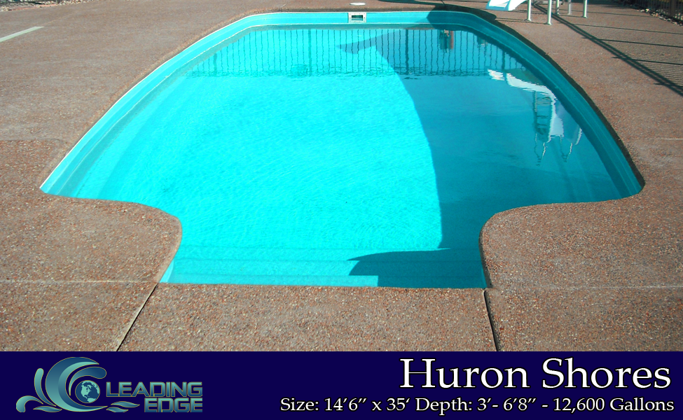 Huron Shores Fiberglass Swimming Pool by Leading Edge Pools