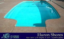 Huron Shores Fiberglass Swimming Pool by Leading Edge Pools