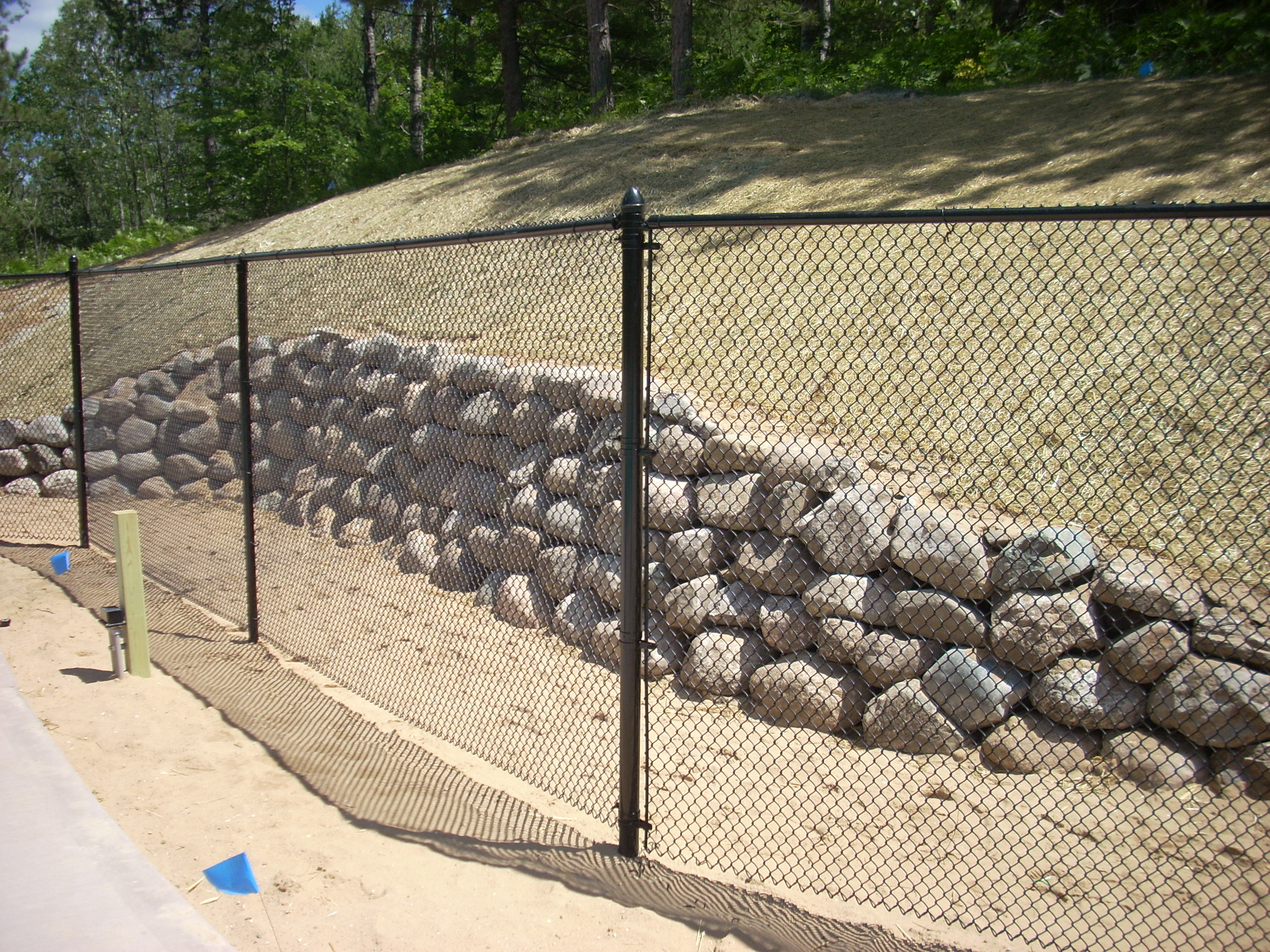 Rock Wall built by Midwest Pools