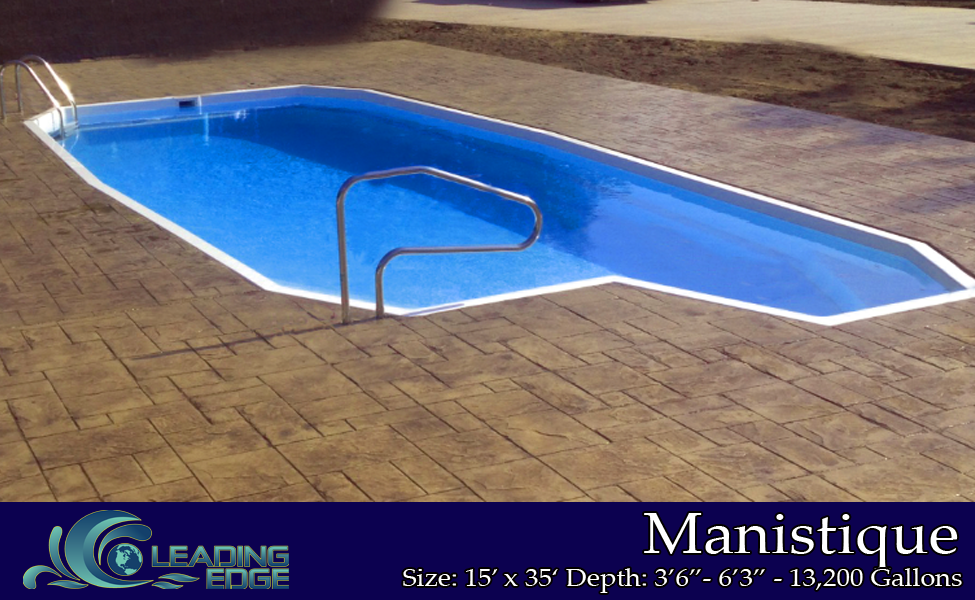 Fiberglass Swimming Pools Leading Edge Pools Manistique Model