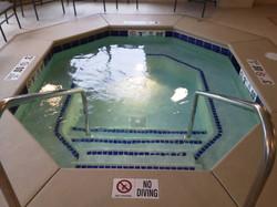 Indoor commercial hot tub