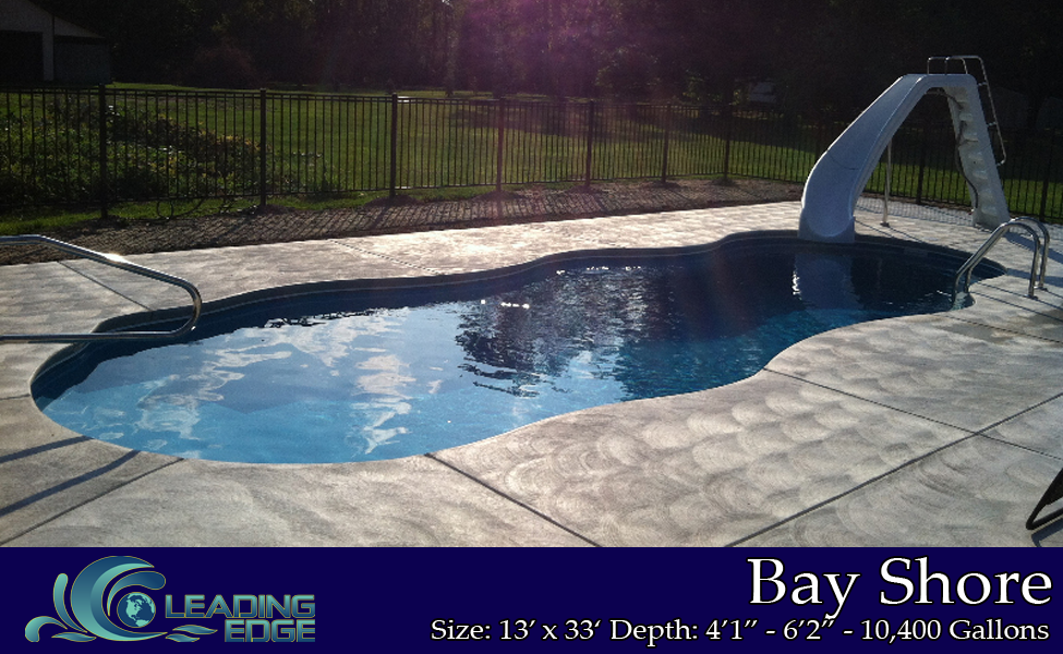 Fiberglass Swimming Pool Bay Shore model