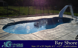 Fiberglass Swimming Pool Bay Shore model