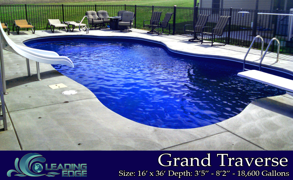 Grand Traverse Fiberglass Swimming Pools by Leading Edge Pools
