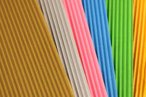 Various corrugated cardboard colours