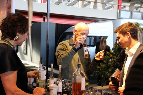Visitors finding out more about tulip liqueur