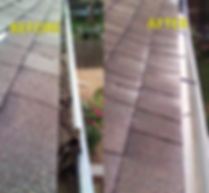 A Brighter Day Gutter Cleaning Before & After