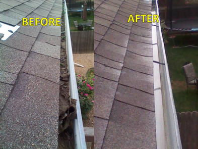 Before and after of window cleaning in Golden, CO.