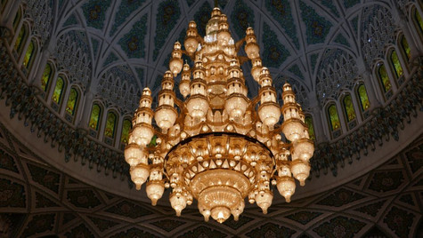 Lustre Svarowski 8 tonnes - Mosquée du Sultan Qabus Ibn Saïd - Mascate