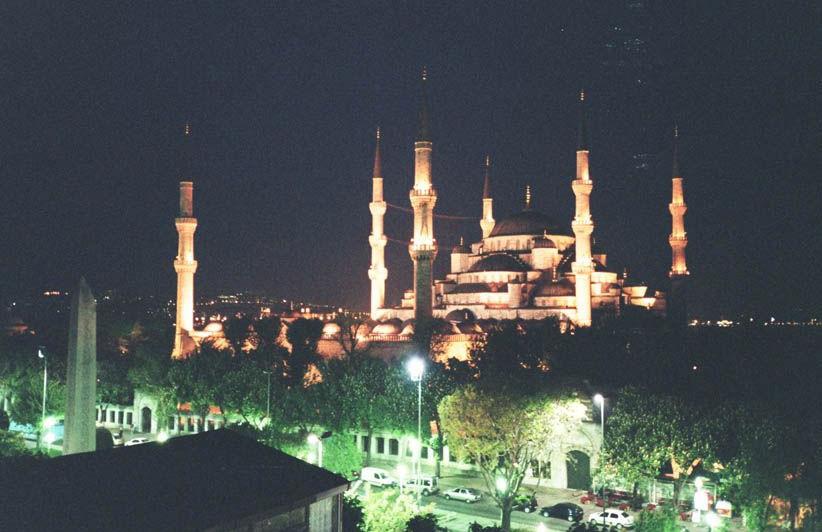 Mosquée bleue de nuit