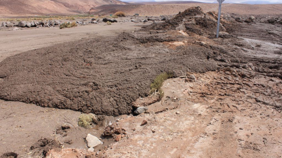 Piste après un orage - Atacama