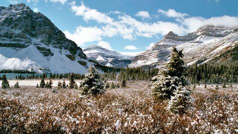 Les Rocheuses et la neige