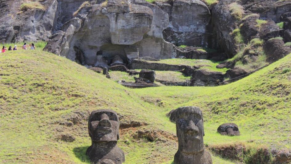 Carrière Moai Rano Raraku - Ile de Pâques
