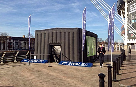 SPORTS SIMULATOR INFLATABLE OUTDOOR HOUSING