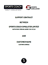 SPORTS COACH SIMULATOR SUPPORT CONTRACT