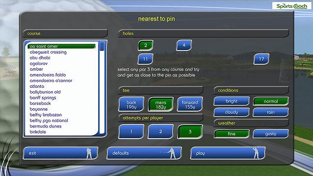 GPS Golf Simulator Nearest To Pin