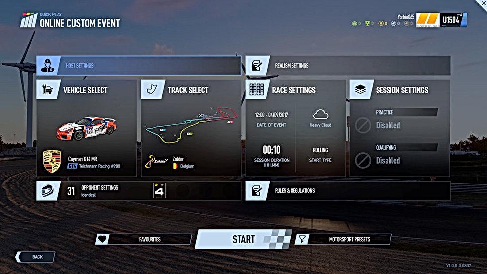 HD Racing Simulator Online