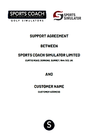 SPORTS COACH SIMULATOR SUPPORT AGREEMENT