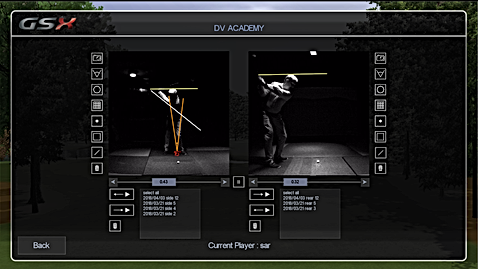 Golf Simulator GSX Video Shot Analysis