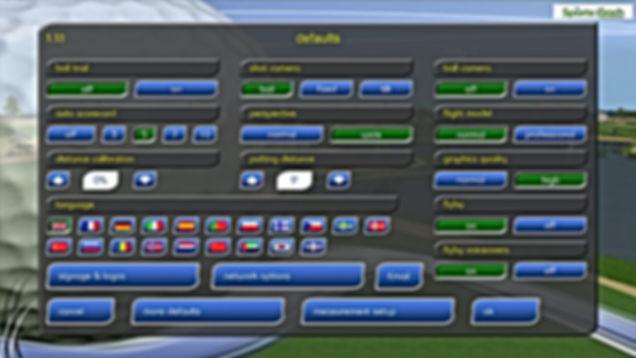 GPS Golf Simulator Languages
