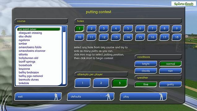 GPS Golf Simulator Putting Contest
