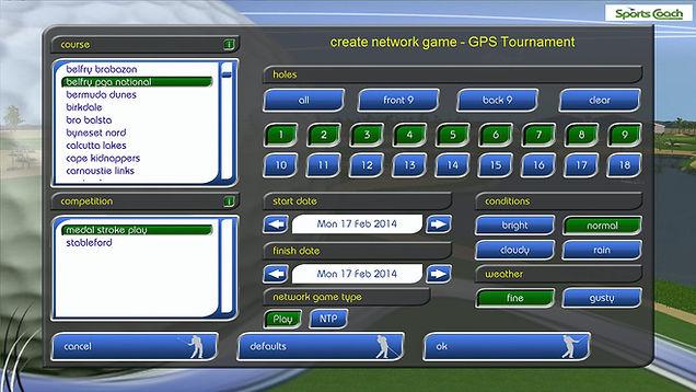 GPS Golf Simulator Network Tournament