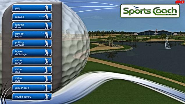 GPS Golf Simulator Main Menu